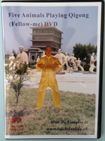 Five Animals Playing Qigong  DVDs Image